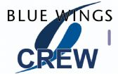 BLUE WINGS logo Crew Tag (BLUE)